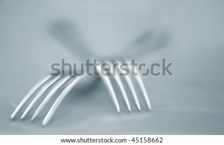 Tablewares on a grey background