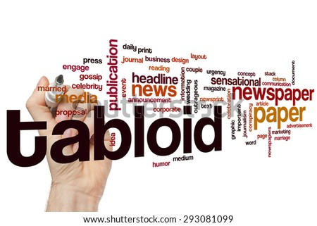 Tabloid word cloud concept - stock photo