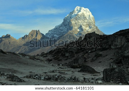 Taboche peak - stock photo