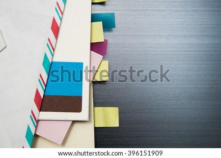 Tabs on stationary - stock photo
