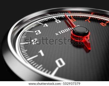 Tachometer - stock photo