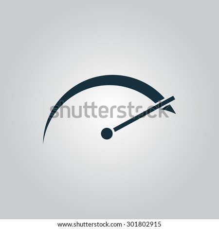 Tachometer. Flat web icon or sign isolated on grey background. Collection modern trend concept design style  illustration symbol - stock photo