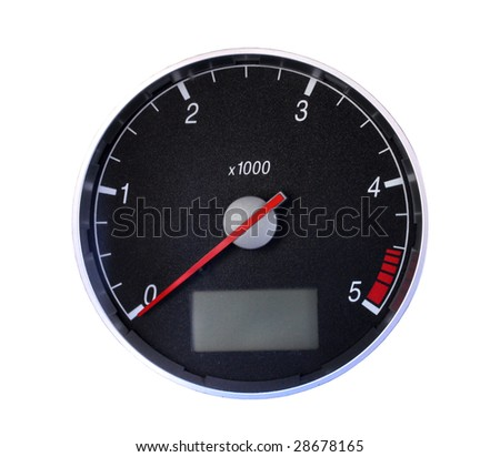 Tachometer isolated on white, with clipping path