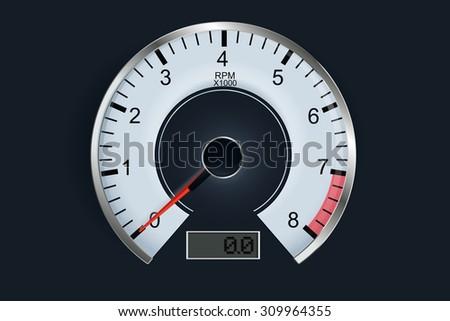 Tachometer.  Raster version. - stock photo