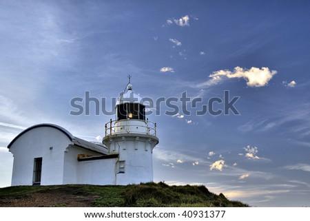 Tacking Point Lighthouse - stock photo