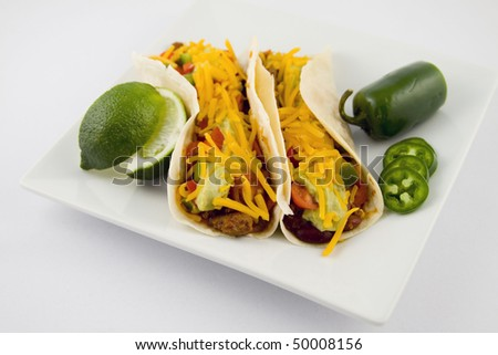Taco, Mexican Food - stock photo
