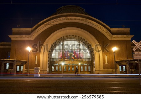 TACOMA, WASHINGTON/UNITED STATES - APRIL 24: This building was previously Union Station but now houses a Federal Courthouse for the United States on April 24, 2013. - stock photo