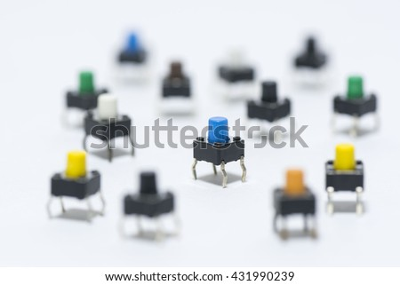 tact switches  - stock photo