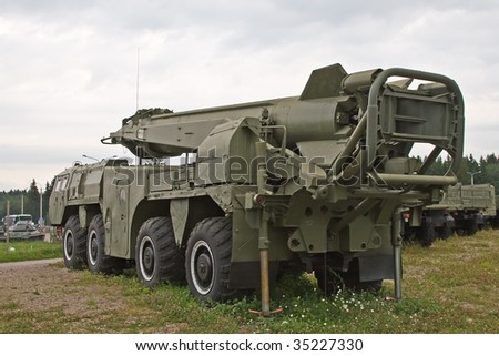 Tactical nuclear missile - stock photo