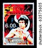 TADJIKISTAN - CIRCA 2000: A postage stamp printed in Tadjikistan showing Bruce Lee, circa 2000 - stock photo