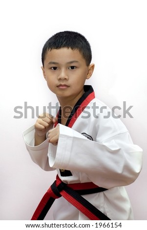 Taekwondo boy - stock photo