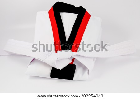 taekwondo uniform and belt
