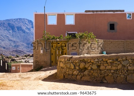 Tafrout city, Morocco - stock photo