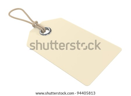 Tag for Copy Space. isolated. - stock photo
