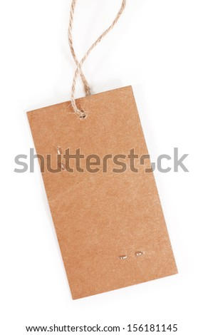 tag isolated on white