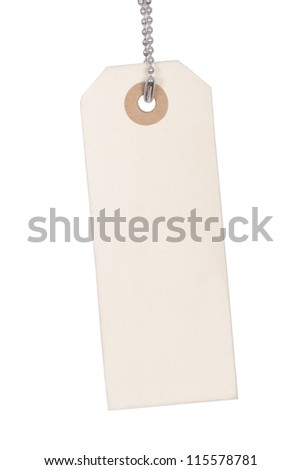 Tag on a chain - stock photo
