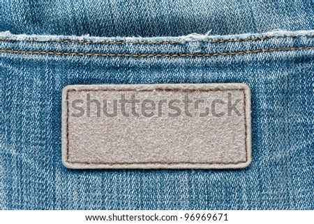 tag on jeans texture