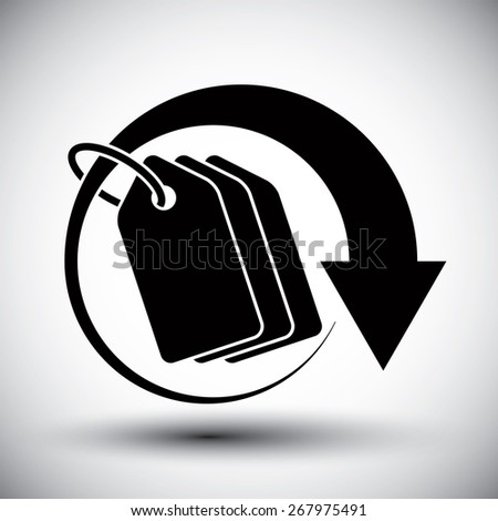 Tag retail theme simple single color icon. - stock photo