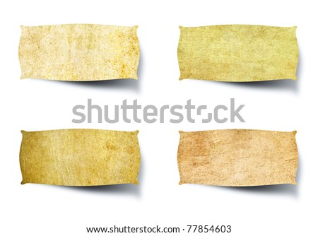 tag vintage paper isolated on white background - stock photo