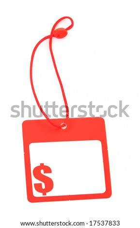tag with dollar symbol and copy space for price - stock photo