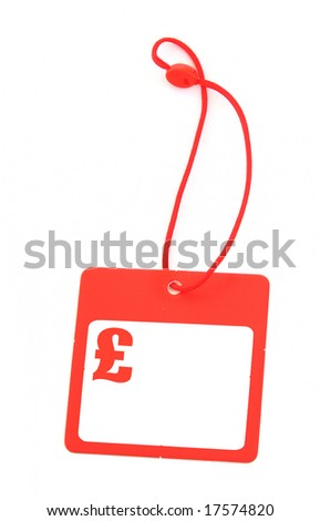 tag with pound symbol and copy space for price - stock photo