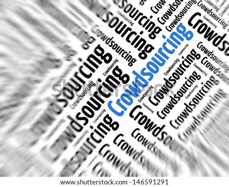 Tagcloud - Crowdsourcing - stock photo