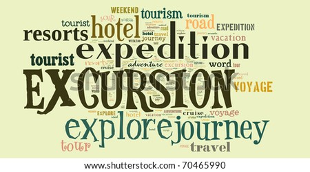 Tagcloud: Travel words