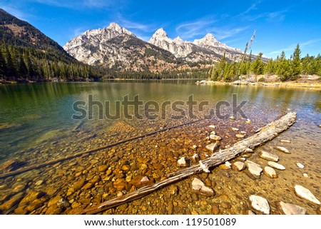 Taggart Lake. Grand Teton National Park. - stock photo