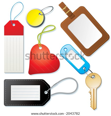Tags and labels - stock photo