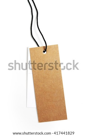 Tags price isolated on a white background,This has a clipping path.