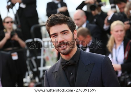 Tahar Rahim attends the opening ceremony and 'La Tete Haute' premiere during the 68th annual Cannes Film Festival on May 13, 2015 in Cannes, France. - stock photo