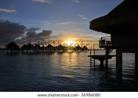 Tahitian Sunrise - stock photo