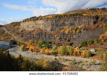 Tahltan Native Village in Northern British Columbia - stock photo
