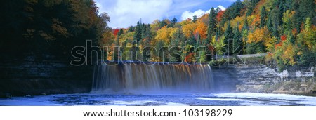 Tahquamenon Fall State Park, Michigan - stock photo