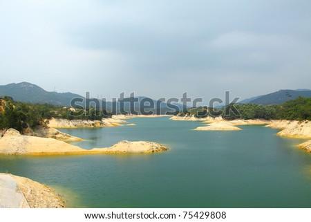 Tai Lam Chung Reservoir in Hong Kong - stock photo