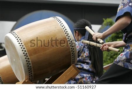 Taiko Drummer - stock photo