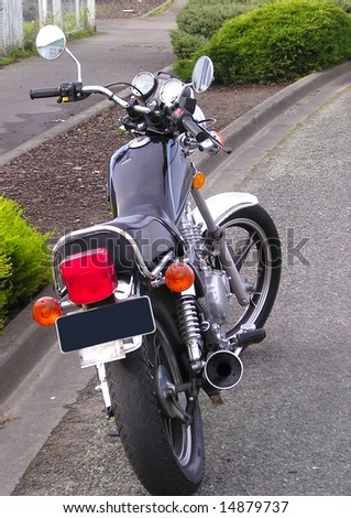 Tail-end of motor cycle - stock photo