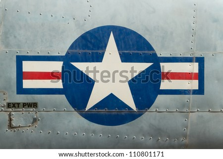 Tail of Vietnam war Airplane displayed in Saigon (Vietnam) - stock photo