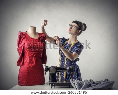Tailor-made dress  - stock photo