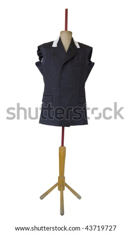 Tailor's work. Clipping path included. - stock photo