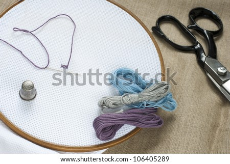 tailor tools, canvas background