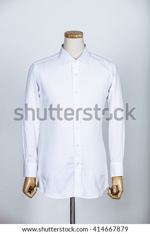 Tailored white shirt on a mannequin - stock photo
