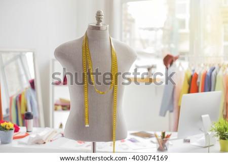 Tailors office  - stock photo