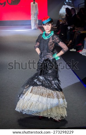 Taipei City , Taiwan ,  April , 9th , 2015 : Taipei in style fashion show models on runway, - stock photo