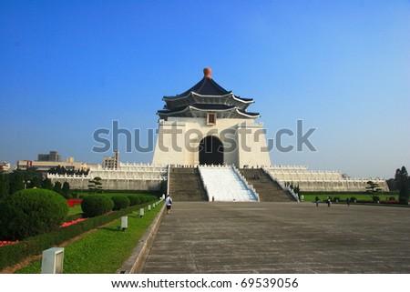 Taipei Liberty Square and CKS memorial hall, Taiwan - stock photo