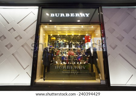 TAIPEI, TAIWAN - DECEMBER 14: Xinyi Financial District at East Taipei has many large department stores. It is one of the best place to go and shop in Taipei, December 14, 2014, Taipei, Taiwan - stock photo