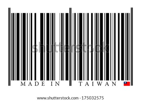 Taiwan Barcode on white background