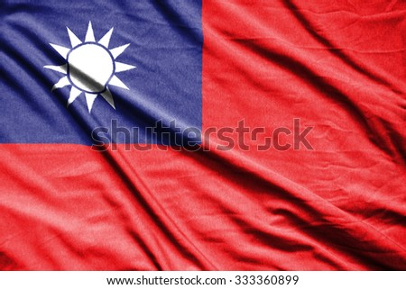 taiwan flag - stock photo