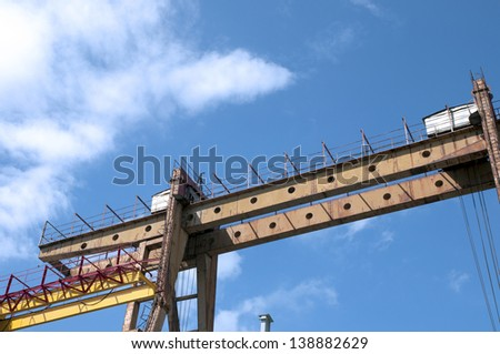 Taiwan - Kaohsiung Port in vessels operating - stock photo