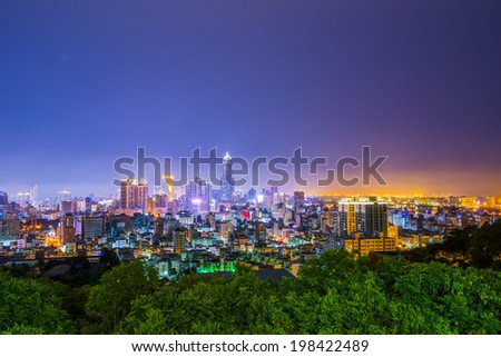 Taiwan's second largest city - Kaohsiung - stock photo